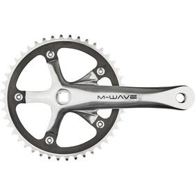M-Wave Single Speed Guarnitura 44 denti alluminio levigato, argento/nero